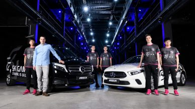 collaborazione mercedes-benz SK Gaming